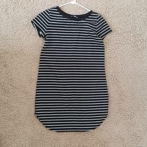 Black Stripped Cotton Dress